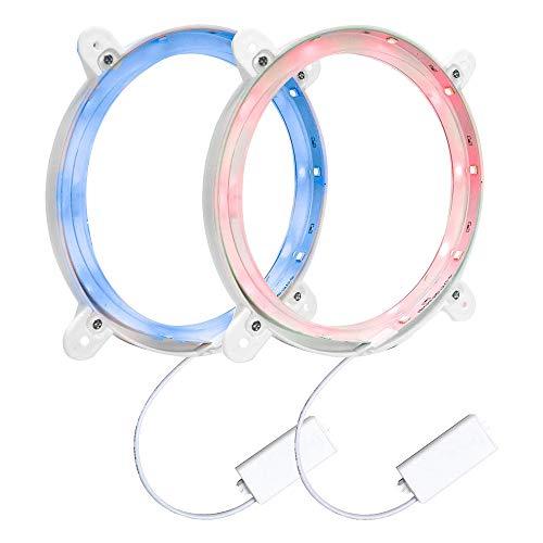 ALLOMN Cornhole LED Licht, 2PCS Cornhole Board Nachtlicht Ultra Bright, Langlebig mit Hintergrundbeleuchtungseffekt, Blendschutzentwurf zum Spielen Nachts (Rot+Blau)