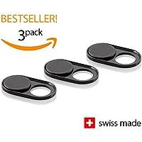 Soomz Webcam Abdeckung aus Metall | Hochwertig und dauerhaft | Swiss Made | Privacy-Schutz für Kamera | PC | Laptop | Handyzubehör | 3er Set