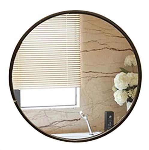 Jiamuxiangsi- Espejo - Espejo Redondo Redondo Europeo del Cuarto de baño/Espejo Redondo de la Mesa de baño/Espejo Decorativo ==Espejo Maquillaje (Color : Negro, Tamaño : 30cm)