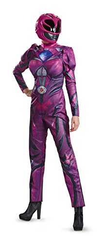 Pink Ranger Deluxe Womens Fancy dress costume Medium ()