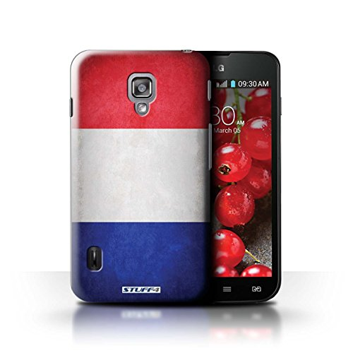 Kobalt® Imprimé Etui / Coque pour LG Optimus L7 II Dual / Amérique/americain conception / Série Drapeau France/français