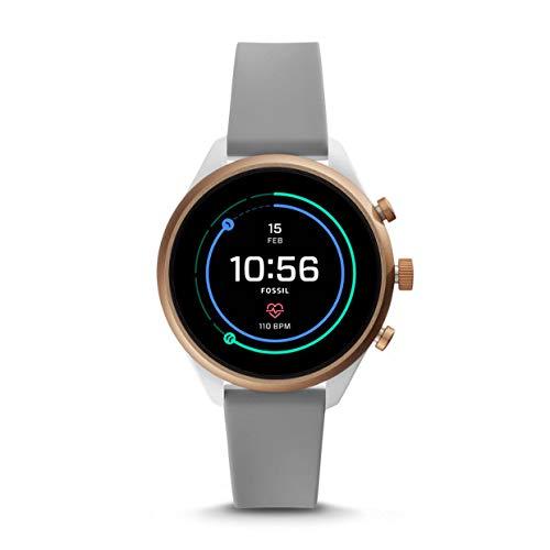 Fossil Sport FTW6025 - Reloj Inteligente Unisex (Silicona), Color Gris