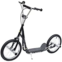 """HOMCOM Adult Teen Push Scooter Kids Children Stunt Scooter Bike Bicycle Ride On 16"""" Pneumatic Tyres"""