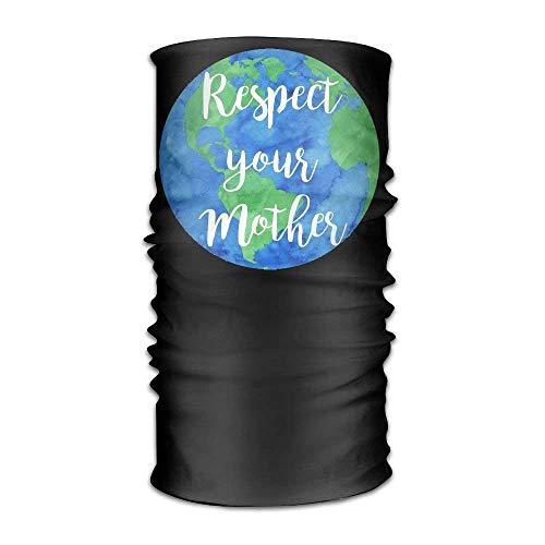 Respect Your Mother Headwear For Men And Women-Yoga Sports Travel Workout Wide Headbands,Neck Gaiter,Bandana,Helmet Liner,Balaclava,Hair Turban,Scarf
