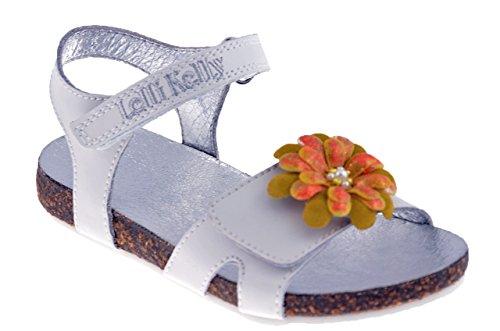 Lelli Kelly 7518 Sandales Neuf Chaussures Enfant Blanc / Jaune