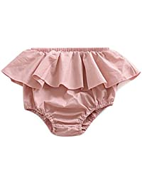 Pantalones cortos de verano con diseño de triángulo de encaje para bebé, para mujer