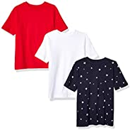 Amazon Essentials Boys' 3-Pack Short Sleeve tee N