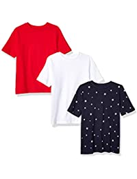 Amazon Essentials Boys' 3-Pack Short Sleeve tee Niños