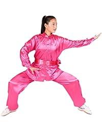 XFentech Unisex Ropa De Tai Chi Poliéster Tang Traje de Artes Marciales Kung Fu Uniformes Disfraces