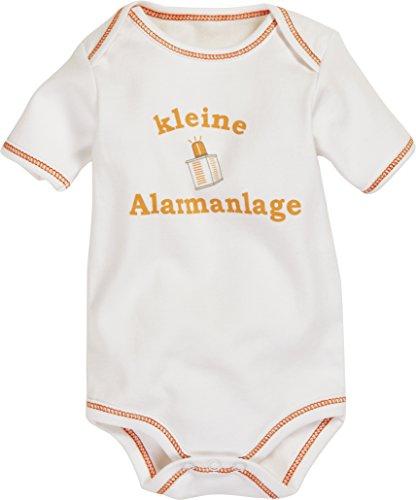 Schnizler Unisex Baby Body Kurzarm, Kleine Alarmanlage, Oeko - Tex Standard 100, Gr. 86 (Herstellergröße: 86/92), Beige (natur 2)