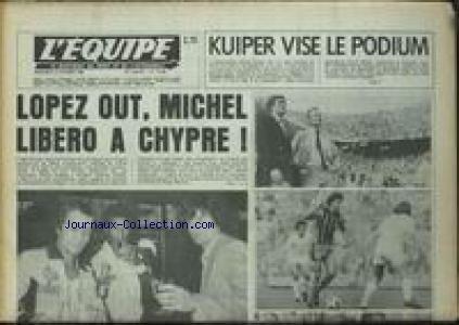 EQUIPE (L') [No 10699] du 08/10/1980 - KUIPER VISE LE