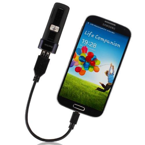 Wicked Chili USB-A Adapter Kabel für microUSB OTG Smartphones, Handys & Tablets (Host für Cardreader, Tastatur, Maus, Festplatte, USB-Stick)