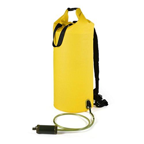 E-coli-bakterien Im Wasser (OUTAD Wasserfilter Packsack mit UF Hohlfaserfilter für Bootfahren Wandern Kajaken Kanufahren Angeln Schwimmen Skifahren Snowboarden mit wasserdichter)
