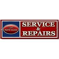 Moto Guzzi Service und Reparaturen Qualität Metall Schild