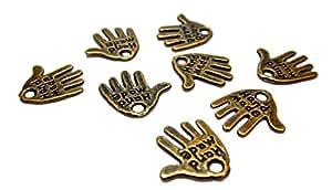 50pezzi a mano con stampa Hand Made Charm ciondolo rame Geralin Gioielli