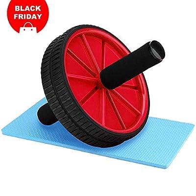 Reehut AB Roller Bauchtrainer mit Knieauflage Bauchmuskelroller für Fitness Perfekt für Einsteiger und Frauen von REEHUT