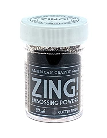 American Crafts 1-Piece 1 oz Zing Glitter Embossing Powder, Black