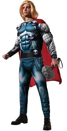 (Herren Offiziell Marvel Avengers Deluxe Thor Superheld Halloween Film Kostüm Kleid Outfit - Blau, XL, Blau)