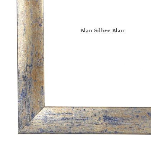 Bilderrahmen 84,1x118,9 cm (DIN A0), in BLAU SILBER GOLD mit Rückwand und Acrylglas - Foto Galerie Poster Rahmen NEU