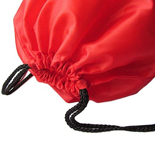 DDLBiz® Nylon Rucksackbeutel Sport Beach-Reisen im Freienrucksack Taschen,35cm x 41cm Rot