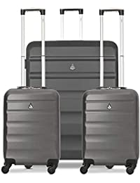 """Aerolite ABS Hard Shell 3 Piece Suitcase Luggage Set - 2 x 21"""" Hand Cabin Luggage + 1 x Large 29"""" Hold Check in Luggage Suitcase"""
