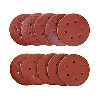 SPTA 100tlg 150mm 40/80/120/180/320/600/800/1000/1500/2000 Schleifscheiben Schleifpapiere Exzenterschleifmaschinen Körnung, mit 6 Löchern für Exzenterschleifmaschinen