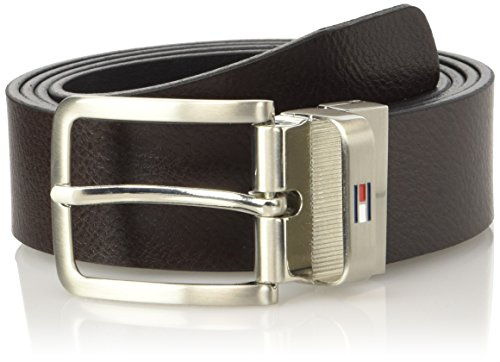 Tommy Hilfiger Am0Am01303, Cintura Uomo, Marrone (Black/Brown 901), 105