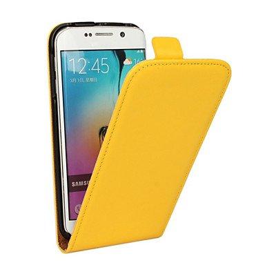 CASE FOR SAMSUNG Handy schützen, Luxus Echtes Leder-Schlagfall für Samsung-Galaxie s3mini/s4mini/s5mini für Samsung (Farbe : Gelb, Kompatible Modellen : Galaxy S5 Mini)
