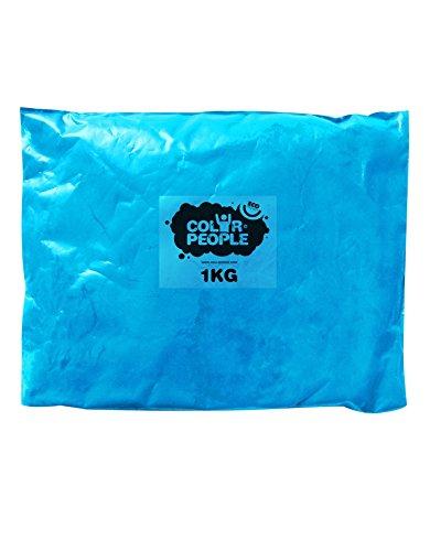 Color People - Sac De 1Kg De Poudre Colorée Holi Bleu Clair