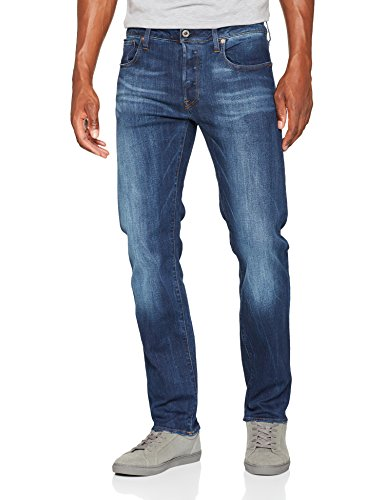 G-Star RAW Herren Jeans 3301 Straight, Blau (Dk Aged 89), W38/L36 (Jeans Mens Straight New)