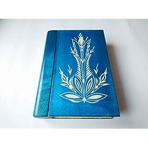 Große riesige blau magische geheimnisvolle Zauberer Puzzle Buch – Kasten mit Geheimfach innen Überraschung…