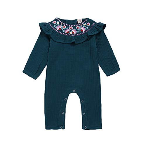 TWISFER Langarm Baby Body Buchstaben Babys Mädchen Jungen Stickerei Bodysuit Strampler Kleidung Unisex Baby Puppenkragen Overall Bodysuit