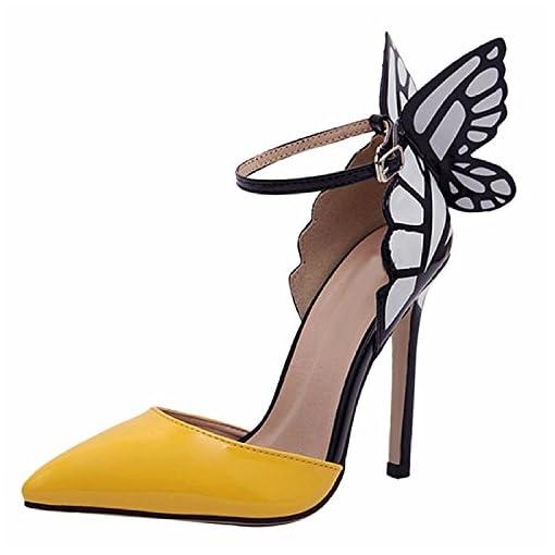 e0986f58e8 Minetom Mujer Elegante Estiletes Verano Sandalias Moda Tacón Alto Zapatos  ...