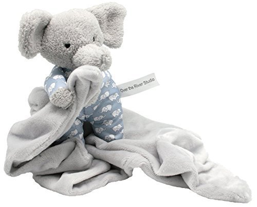 Zillion Toyz Petite Gray Lovey Elephant Cuddle Buddy – Manta de Seguridad...