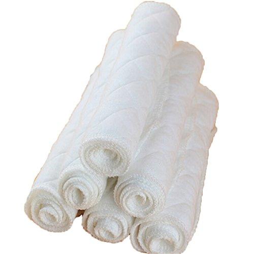 Preisvergleich Produktbild ODN 10er Set Waschbare Windeln Stoffwindeln BaumwolleTücher für 0-24M Baby (Weiß)