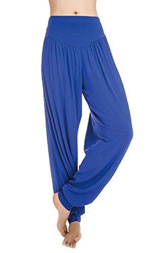 Scothen Mesdames pantalons survêtement Uma Pant doux pantalon spandex Yoga Pilates 16 couleurs sarouel bloomers sarouel confortable douce Yoga Modal Pant stretch Sport Aladin Lounge Pants Fitness Bleu