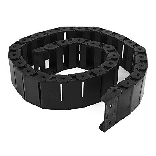 "Kabelschleppkette - TOOGOO(R)40.55 ""schwarz Kabel Draht Traeger Schleppkette Verschachtelte 18x50mm"