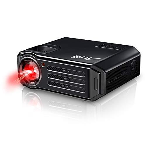 Artlii Proyectores, Proyector Full HD de 3500 Lúmenes, soporta 1080p, HDMI x 2, VGA, USB, SD, AV e Interfaz de Auriculares, Proyector LCD Home Cinema, para PC TV Laptop iPhone iPad-Negro