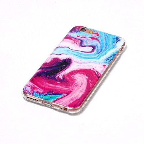 Per iPhone 6 Plus / iPhone 6S Plus Cover , YIGA Moda rosa Marmo Silicone Morbido Molle TPU Case Caso Shell Protezione Copertura Custodia Copertina per Apple iPhone 6 Plus / iPhone 6S Plus (YH75) YH78