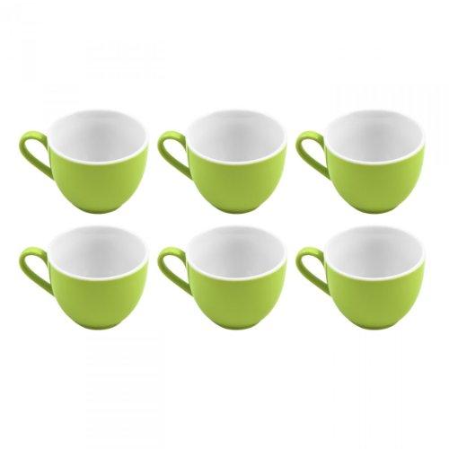 flirt by R&B Espresso-Obere / Espressotasse \'Doppio\', 80 ml, Ø 6 x 5 cm, grün (6er Pack)