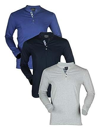 Maniac Men's Plain Slim Fit T-Shirt (ML-FLSLV-SLD-HNLY-Navy_N_Multi-Coloured_X-Large)