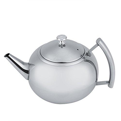 Fdit teiera caffettiera teiera bollitore extra robusto in acciaio inox rimovibile con filtro per infusore rimovibile 2l