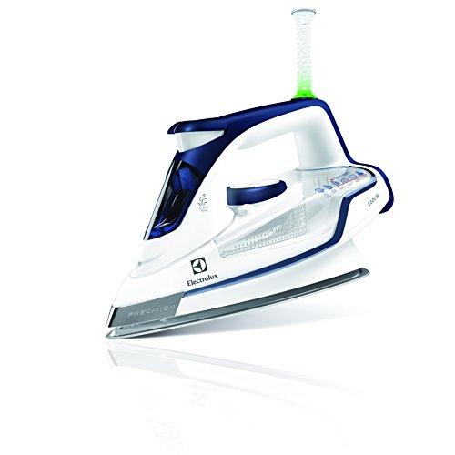 Electrolux 4 Safety Precision - Plancha de vapor, 2200 W y 130 gramos con golpe de vapor, color azul profundo y blanco