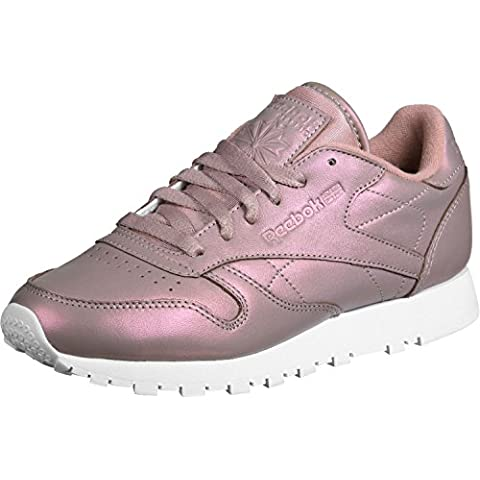 Reebok Classic Leather Pearlized Mujer Zapatillas Rosa, rose gold/white, 37