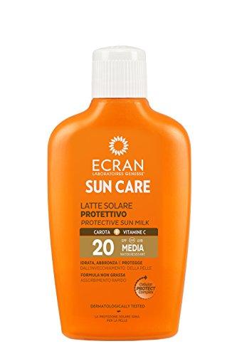Ecran latte carota fp20 200 ml - prodotti solari