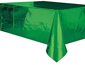De plástico verde mantel, 9pies x 4.5ft