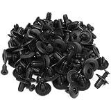 100 Unidades 8mm Agujero Pulsar Tipo Plástico Negro Expanding Remaches De Tornillos para el Auto