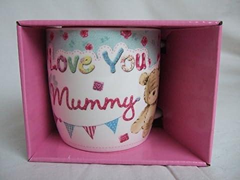 Love You Mummy Multi Coloured Cute Teddy Bear Sentimental Mug by Teddy Mugs