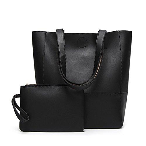 Borse per donna femmina borse causale di capacità grandi donne Borsa a Tracolla Ladies borsette famosa nera 29cm-14cm-37cm