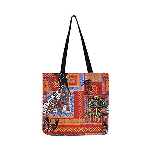 Schöne Stammes-ethnische Leinwand Tote Handtasche Schultertasche Crossbody Taschen Geldbörsen für Männer und Frauen ()